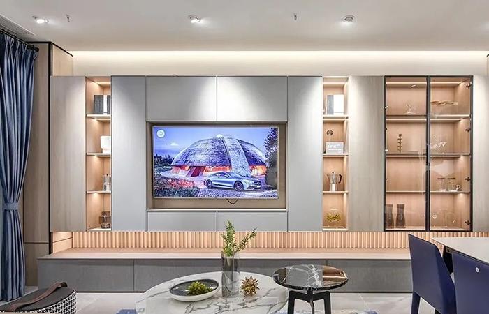 半墙式电视柜